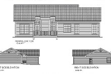 Architectural House Design - Traditional Exterior - Rear Elevation Plan #56-115