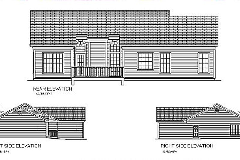 Traditional Exterior - Rear Elevation Plan #56-115 - Houseplans.com