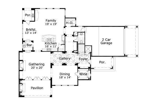 European Floor Plan - Main Floor Plan #411-696