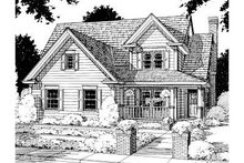 Home Plan - Traditional Exterior - Front Elevation Plan #20-187
