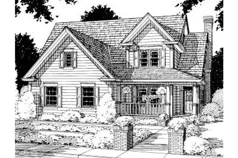 Architectural House Design - Traditional Exterior - Front Elevation Plan #20-187
