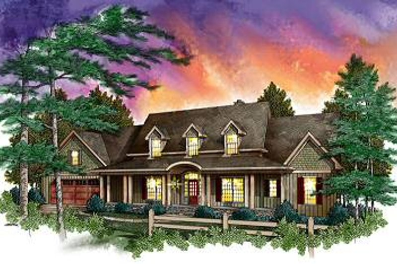 Country Style House Plan - 3 Beds 2.5 Baths 2780 Sq/Ft Plan #71-119 Exterior - Front Elevation