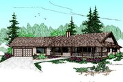 Ranch Style House Plan - 4 Beds 3 Baths 2533 Sq/Ft Plan #60-177 Exterior - Front Elevation