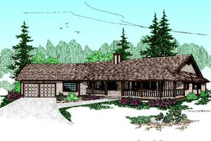 Ranch Exterior - Front Elevation Plan #60-177
