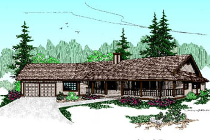 Dream House Plan - Ranch Exterior - Front Elevation Plan #60-177