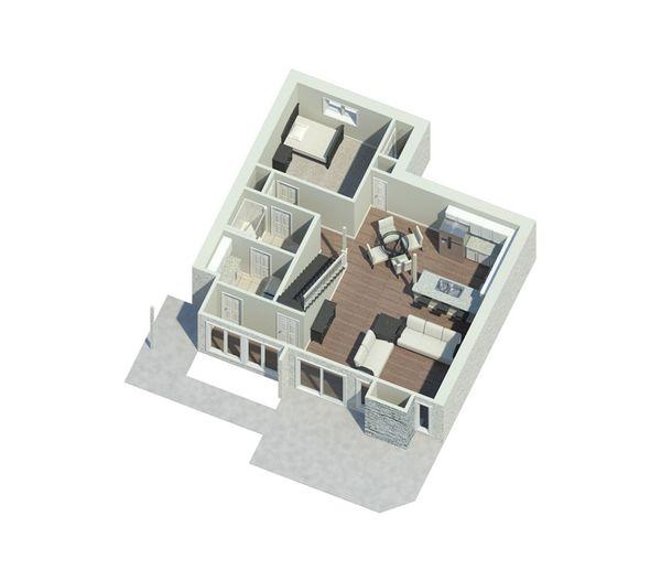 Contemporary Floor Plan - Main Floor Plan Plan #57-626