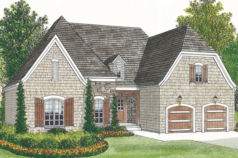 Craftsman Style House Plan - 3 Beds 2 Baths 1400 Sq/Ft Plan #453-65 Exterior - Front Elevation