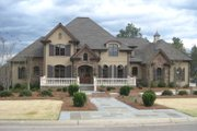 European Style House Plan - 4 Beds 4.5 Baths 4656 Sq/Ft Plan #1054-30 Exterior - Front Elevation
