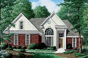 Traditional Style House Plan - 3 Beds 2 Baths 1744 Sq/Ft Plan #34-107 Exterior - Front Elevation