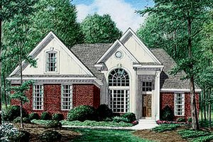 Dream House Plan - Traditional Exterior - Front Elevation Plan #34-107