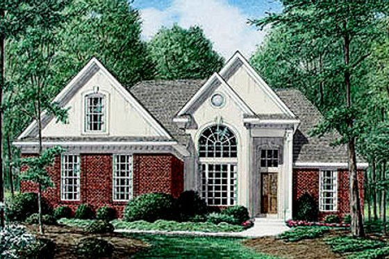 Traditional Exterior - Front Elevation Plan #34-107