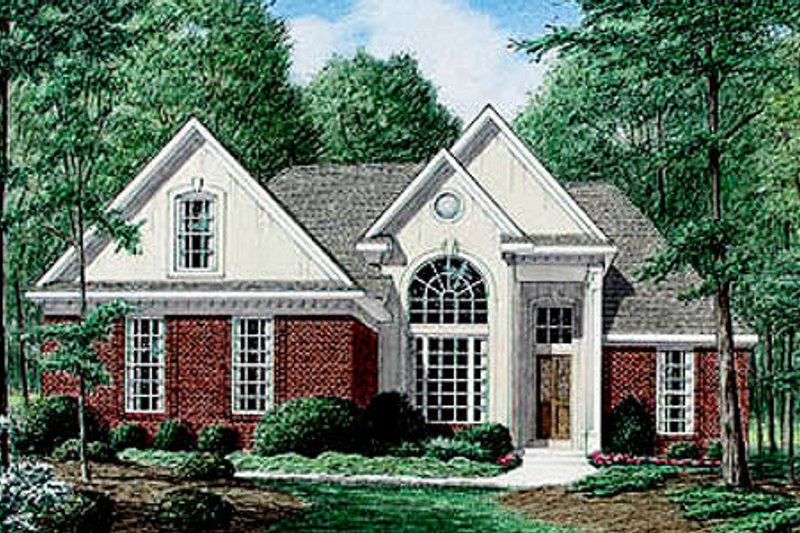 Traditional Exterior - Front Elevation Plan #34-107 - Houseplans.com