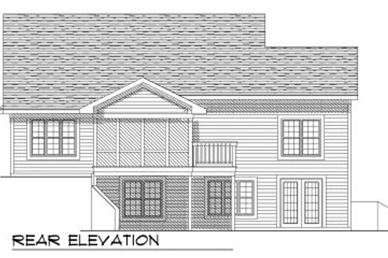 Traditional Exterior - Rear Elevation Plan #70-792 - Houseplans.com