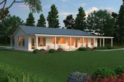 Ranch Style House Plan - 2 Beds 2.5 Baths 2507 Sq/Ft Plan #888-5 Exterior - Other Elevation