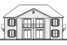 House Plan Design - Traditional Exterior - Rear Elevation Plan #23-2177
