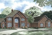 European Style House Plan - 6 Beds 7.5 Baths 9536 Sq/Ft Plan #17-2460 Exterior - Front Elevation