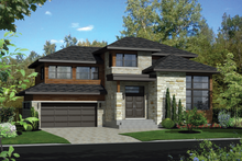 House Design - Contemporary Exterior - Front Elevation Plan #25-4263