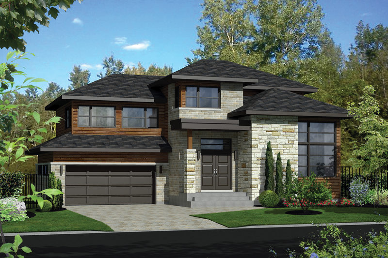 Home Plan - Contemporary Exterior - Front Elevation Plan #25-4263