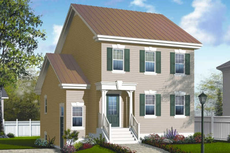 Country Exterior - Front Elevation Plan #23-2181