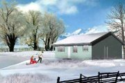 Ranch Style House Plan - 2 Beds 2 Baths 952 Sq/Ft Plan #1-1139