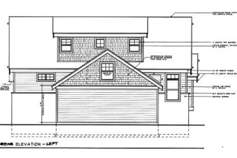 Farmhouse Exterior - Rear Elevation Plan #100-214 - Houseplans.com