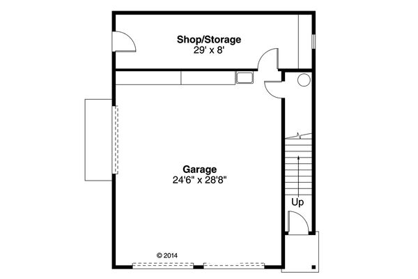 Country Floor Plan - Main Floor Plan Plan #124-944