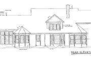 European Style House Plan - 4 Beds 4 Baths 2961 Sq/Ft Plan #20-255 Exterior - Rear Elevation
