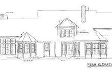 Home Plan Design - European Exterior - Rear Elevation Plan #20-255