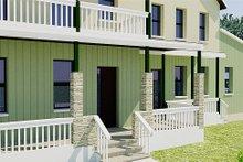 Farmhouse Exterior - Covered Porch Plan #542-10