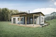 Cabin Style House Plan - 2 Beds 1 Baths 780 Sq/Ft Plan #924-9 Exterior - Rear Elevation