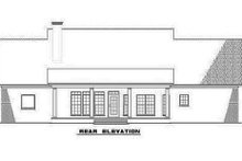 Colonial Exterior - Rear Elevation Plan #17-2068