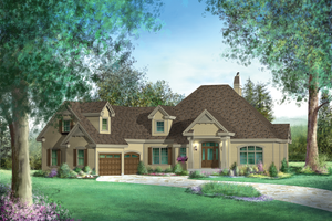 Traditional Exterior - Front Elevation Plan #25-4756