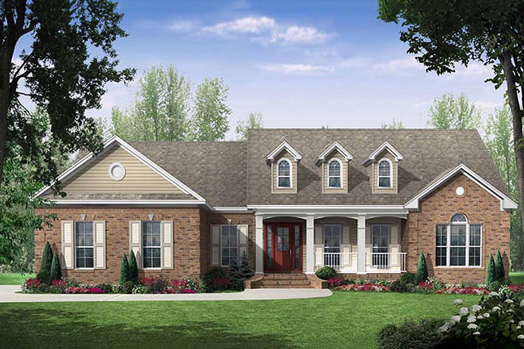 Country Style House Plan 3 Beds 2 5 Baths 2000 Sq Ft