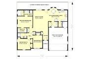 European Style House Plan - 3 Beds 2 Baths 1609 Sq/Ft Plan #44-138 Floor Plan - Main Floor Plan
