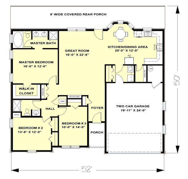 European Floor Plan - Main Floor Plan Plan #44-138