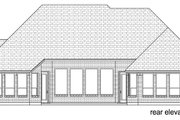 European Style House Plan - 3 Beds 3 Baths 2841 Sq/Ft Plan #84-608 Exterior - Rear Elevation