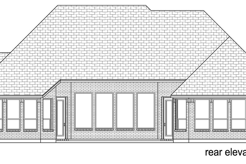 European Exterior - Rear Elevation Plan #84-608 - Houseplans.com