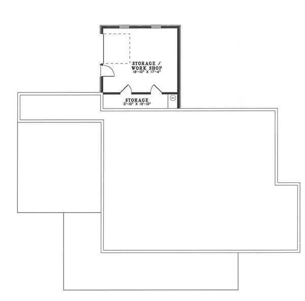 Traditional Floor Plan - Lower Floor Plan #17-168