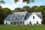 Farmhouse Style House Plan - 6 Beds 4 Baths 3421 Sq/Ft Plan #923-102 Exterior - Front Elevation