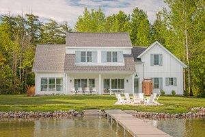 Farmhouse Exterior - Rear Elevation Plan #901-132