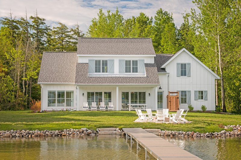 House Plan Design - Farmhouse Exterior - Rear Elevation Plan #901-132