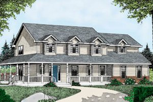 Farmhouse Exterior - Front Elevation Plan #102-203