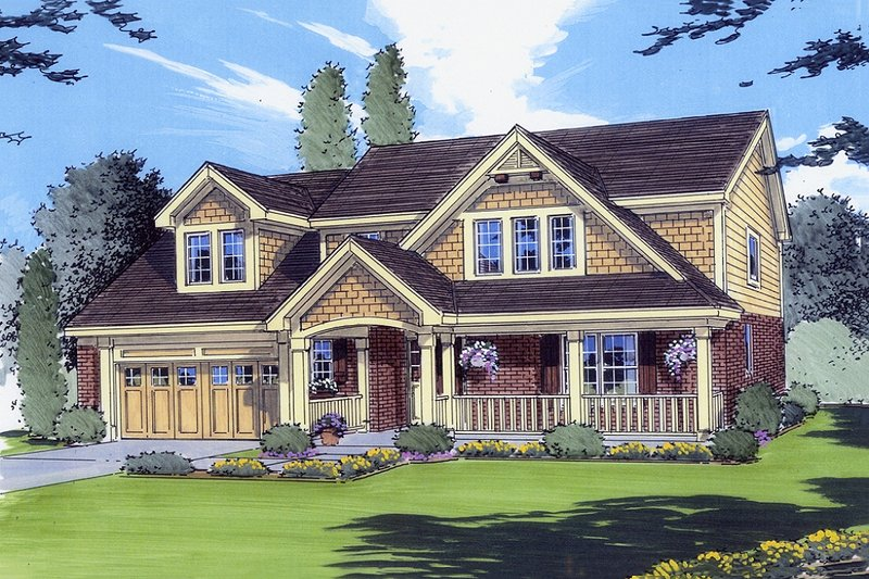 Craftsman Exterior - Front Elevation Plan #46-290 - Houseplans.com