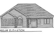Traditional Style House Plan - 3 Beds 2 Baths 1495 Sq/Ft Plan #70-136 Exterior - Rear Elevation