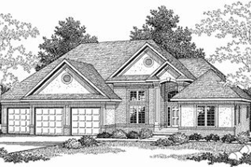 Dream House Plan - Traditional Exterior - Front Elevation Plan #70-386