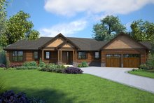 Ranch Exterior - Front Elevation Plan #48-950