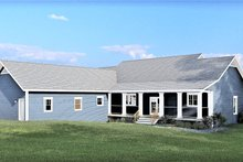 Southern Exterior - Rear Elevation Plan #44-244