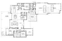 Contemporary Floor Plan - Main Floor Plan Plan #892-30