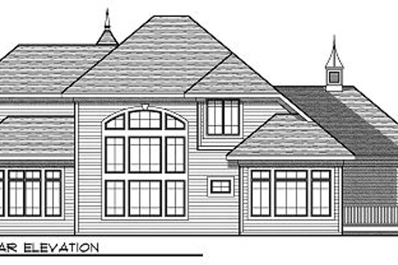 Cottage Exterior - Rear Elevation Plan #70-883 - Houseplans.com