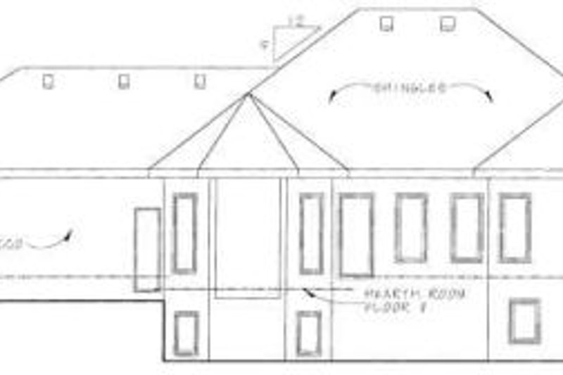 European Exterior - Rear Elevation Plan #20-1269 - Houseplans.com